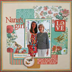 Nana's Girl featuring Coral Couture Stack