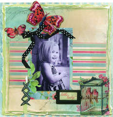 Little Lady Featuring the Botanical Stack from DCWV