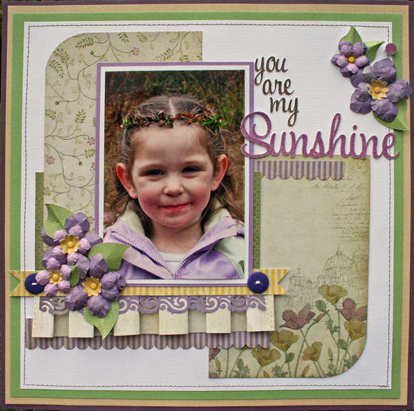 You are my Sunshine featuring the Chateau Lavender Stack