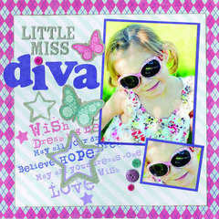 Little Miss Diva Featuring the Glam Gal Stack from DCWV