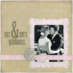 Mr & Mrs Gibbons featuring the Lace & Linen Stack from DCWV