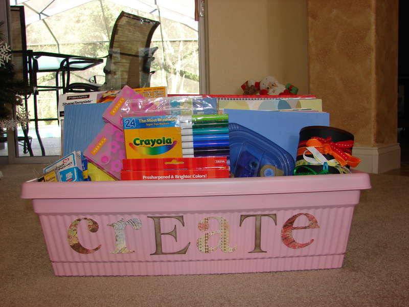My girls Scrapbooking/Crafts organizer