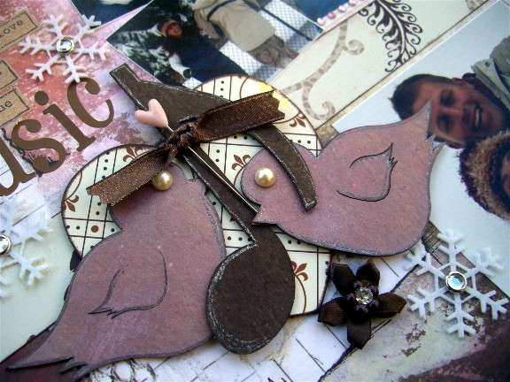 Magistical Memories Chipboard Love Birds