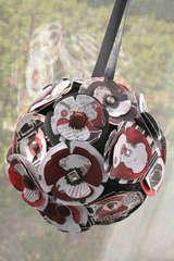 Poppy Flower Ball/Ornament