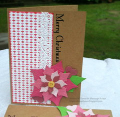 * FLAMINGO SCRAPS * Poinsettia Card