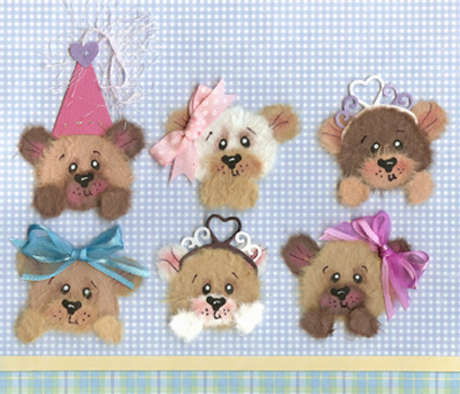 Girl peek-a-boo tear bears