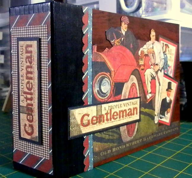 Graphic 45-A Proper Gentleman Mini Album - Closed