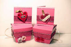 Valentine's card and takeout gift box
