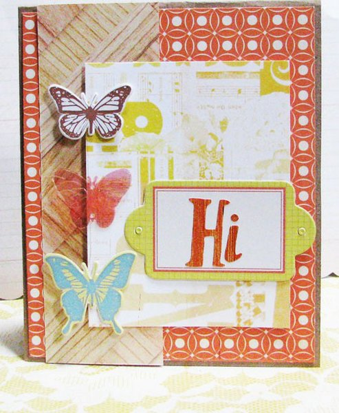 """Hi"" Card"