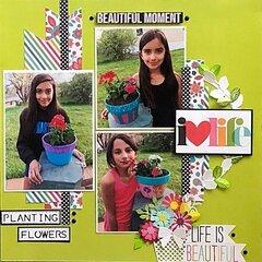 Planting flowers - 2017