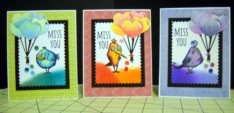 Cards- crazy birds