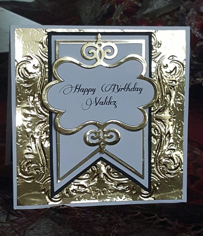Elegant Male Birthday Card