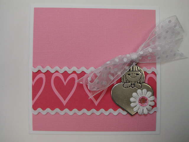 Girl Heart Charm Card