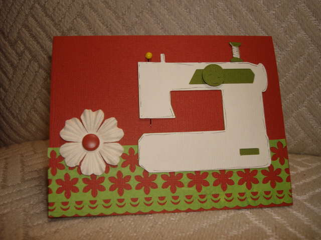 Sewing Machine Card