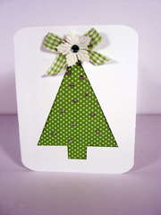 Fabric Tree Card