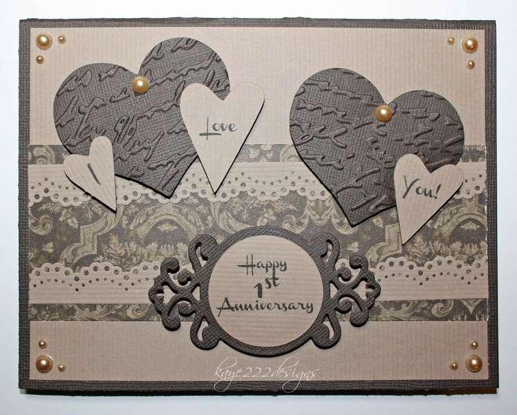 """1st Anniversary"" Card"