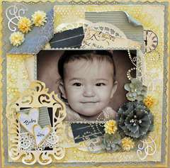 "BABY LOVE *SCRAP THAT! NOVEMBER ""PUTTING ON THE GLITZ"" KIT FEATURING GLITZ VINTAGE BLUE"
