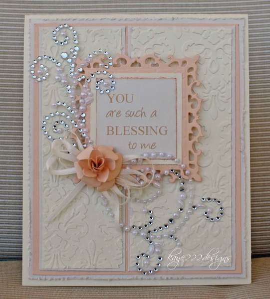 """""""Blessing To Me"""" Card"""