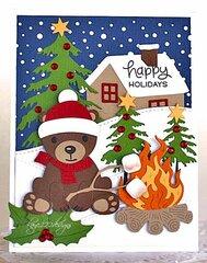 Cabin Bear Happy Holidays