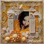 "DAYDREAM BELIEVER *SCRAP THAT! NOVEMBER ""PUTTING ON THE GLITZ"" KIT FEATURING GLITZ VINTAGE BLUE"