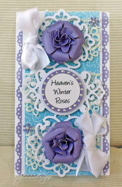 """""""Heaven's Winter Roses"""" Card"""