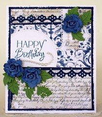 Shabby Blue Birthday