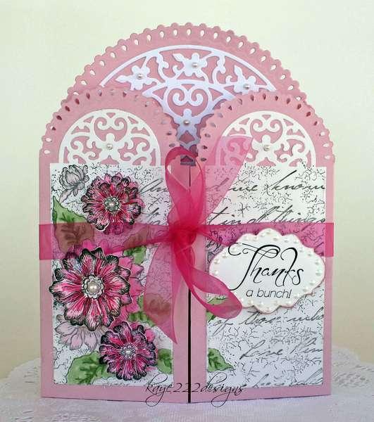 """""""Thanks A Bunch"""" Gatefold Card *Heartfelt Creations*"""