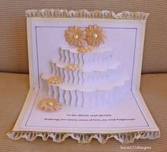 Bridal/Wedding Pop-Up Cake Card