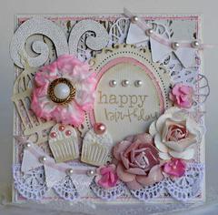 Shabby Birthday Cupcakes