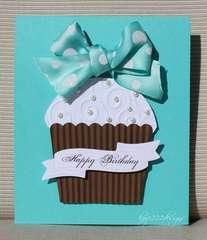 """Tiffany Cupcake"" Card"