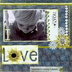 I love Tayelan's lovely lashes