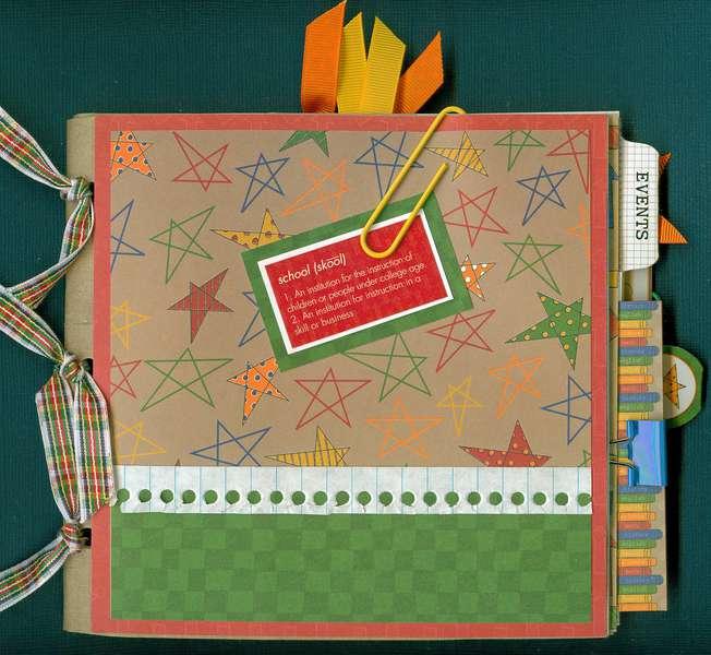 Krafty bag school mini album