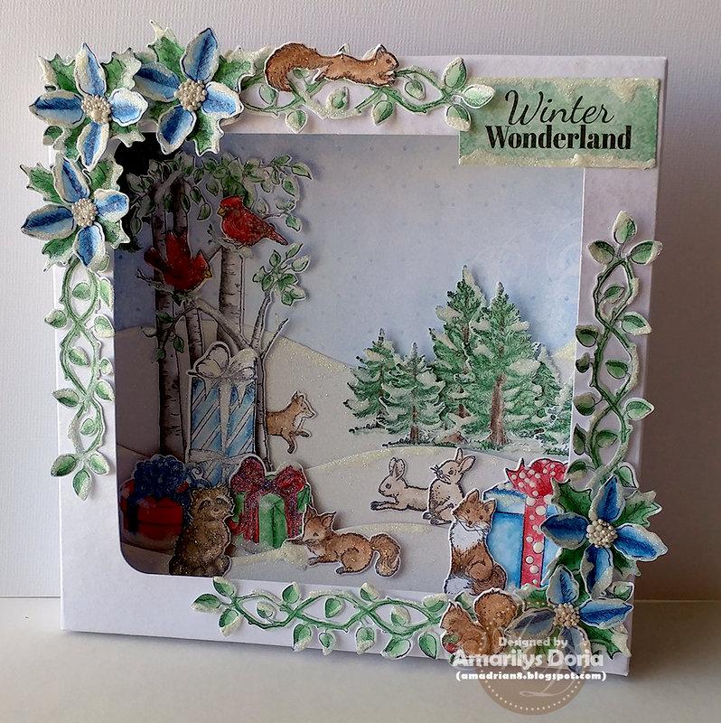 Winter Wonderland altered shadowbox
