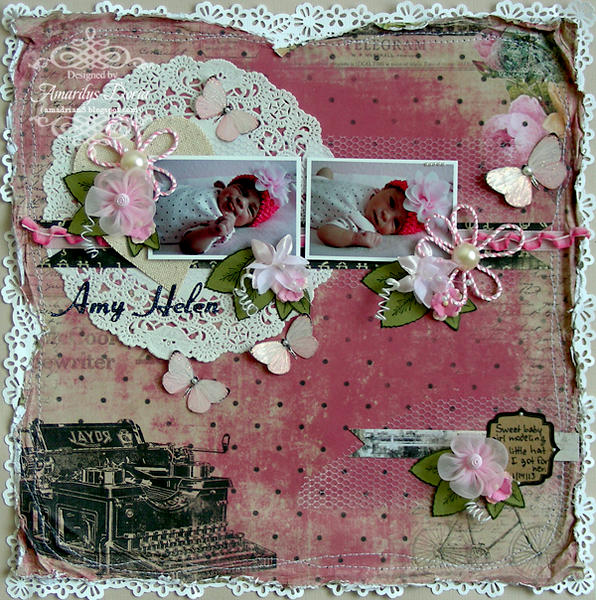 """Amy Helen {ScrapThat! February """"With Love"""" Kit}"""