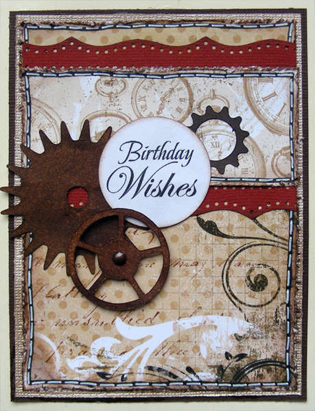 birthday wishes card {A Walk Down Memory Lane DT}