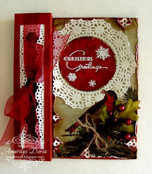 Christmas Greeting Tealight Card {Swirlydoos}