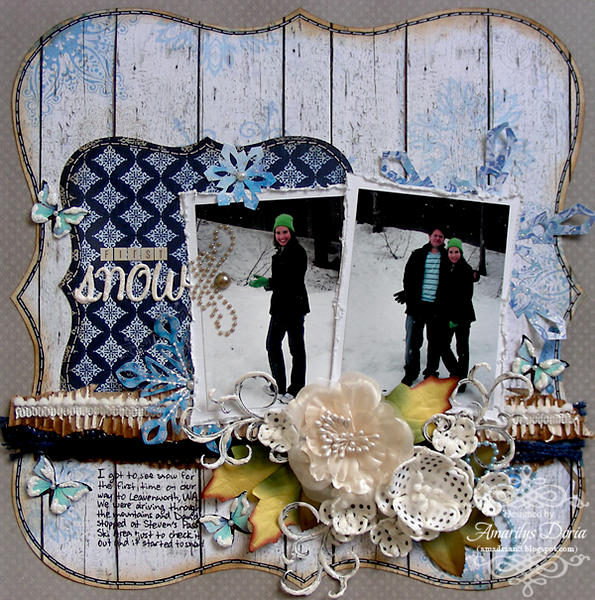first snow {ScrapThat! January Kit Reveal}