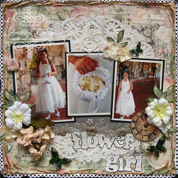 flower girl {ScrapThat! October Kit Reveal}