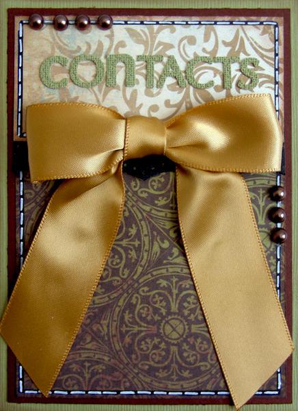 Gift Set-Address Book {ScrapThat! December Kit Reveal}