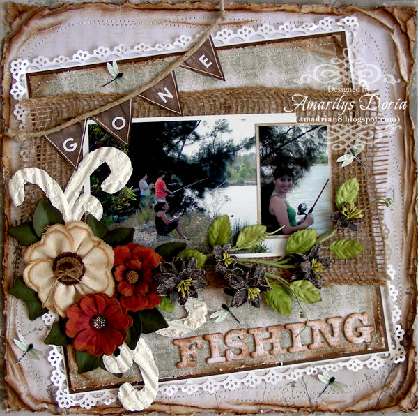 "gone fishing {ScrapThat! March """"Within Nature"""" Kit}"
