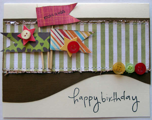 happy birthday card {A Walk Down Memory Lane DT}