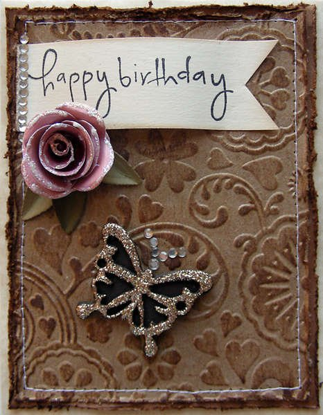 Happy Birthday elegant card {A Walk Down Memory Lane DT}