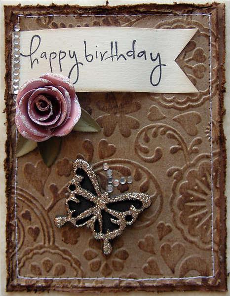 Happy Birthday elegant card {A Walk Down Memory Lane DT}