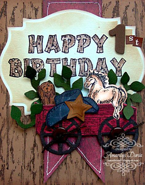 happy birthday card {Heartfelt Creations DT}