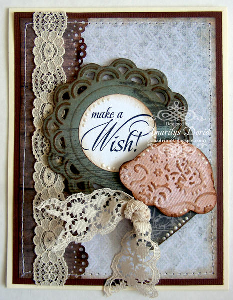 "make a wish card {ScrapThat! March """"Within Nature"""" Kit}"