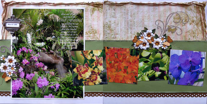 orchid festival double pager {A Walk Down Memory Lane DT}