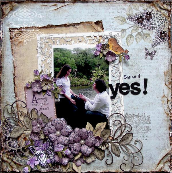 She said YES! {Heartfelt Creations DT}