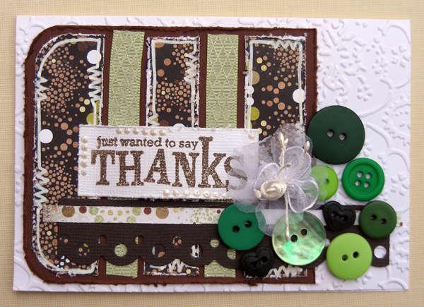 Thank you Card {A Walk Down Memory Lane DT}