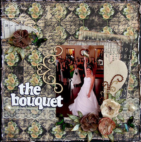 """the bouquet {ScrapThat! February """"With Love"""" Kit}"""