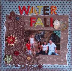 Water Fall (DT challenge @scrapwhispers.blogspot.com)